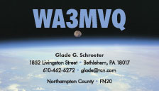 Eyeball QSL Cards, Style EB5, Moon-Set-over-Earth