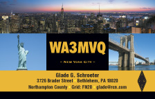 QSL Card Style QSL19, New York City