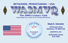 QSL Card Style QSL33, The 3905 Century Club