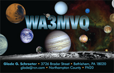QSL Card Style QSL36, Photo Credit: NASA
