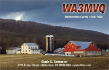 QSL Card Style QSL45, Last Light: Farmstead, Sugar Valley, Clinton County. Photo By: Nicholas T