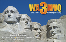QSL Card Style QSL50, Mount Rushmore
