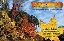 QSL Card Style QSL51, Fall foliage on the Black River, Lorain, Ohio. Photo by: Rona Proudfoot