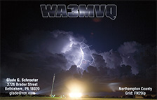 QSL Card Style QSL53, Lightening, Photo: NASA.