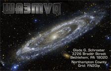 QSL Card Style QSL55 - Andromeda Galaxy - Photo: NASA