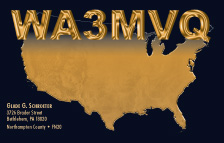 QSL Card Style QSL9, USA MAP