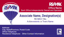 RM4 REMAX Tri Color Business Card w Realtor Logo