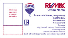 RM8 REMAX White Business Card - Photo w Realtor