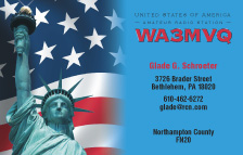 QSL Card Style QSL17, Statue of Liberty